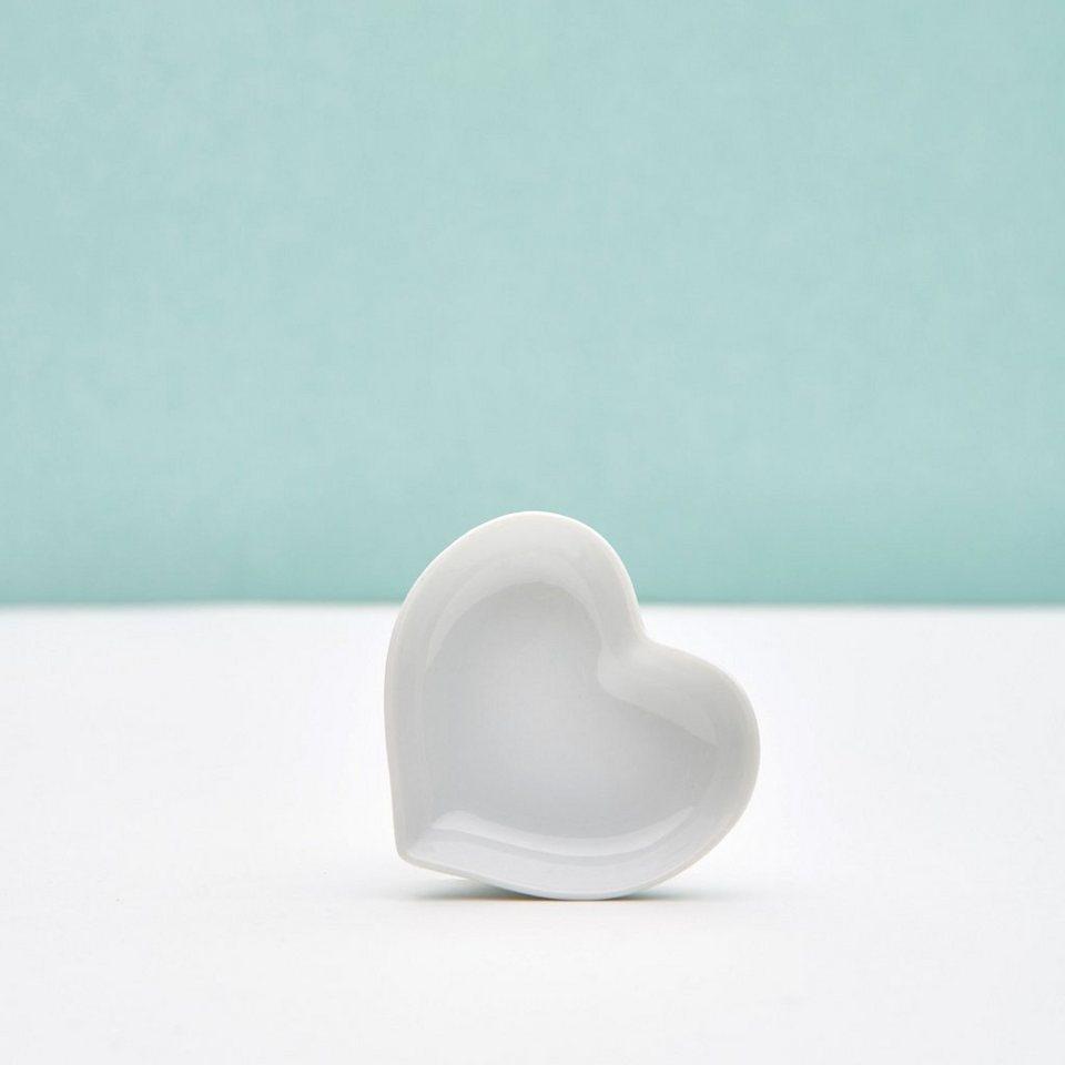 BUTLERS PURO »Miniatur Herzschälchen« in weiss