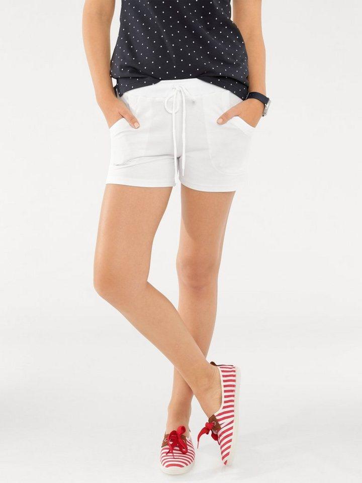 Heine Jersey-Shorts in weiß