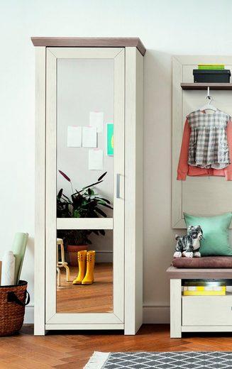 set one by Musterring Garderobenschrank »york« mit Spiegel Typ 01/Typ 12, Pino Aurelio, im Landhausstil