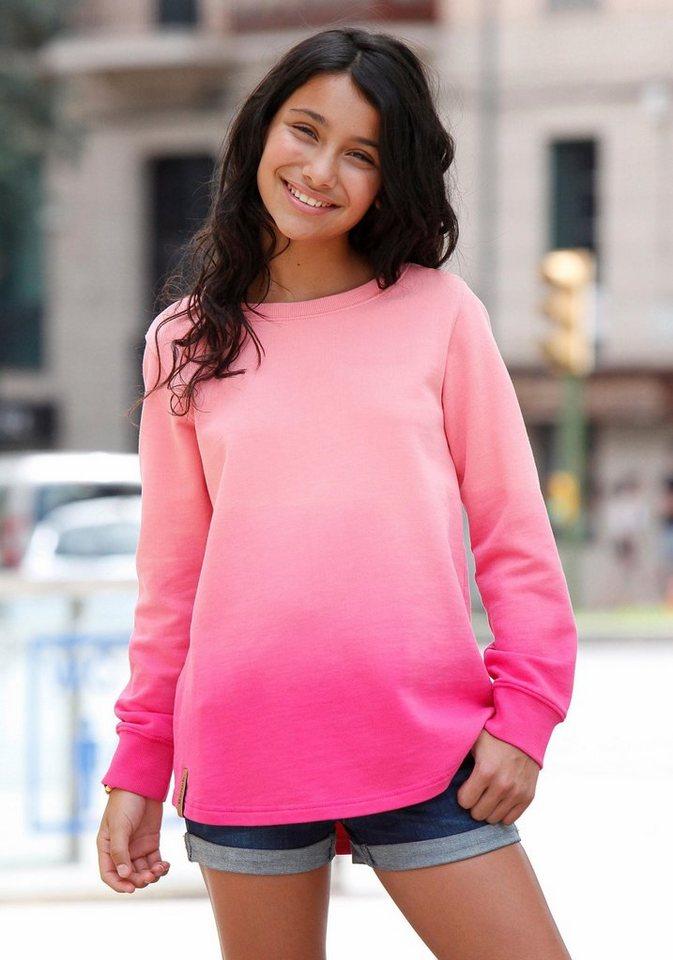 Bench Longsweatshirt mit Dip-Dye-Effekt in pink