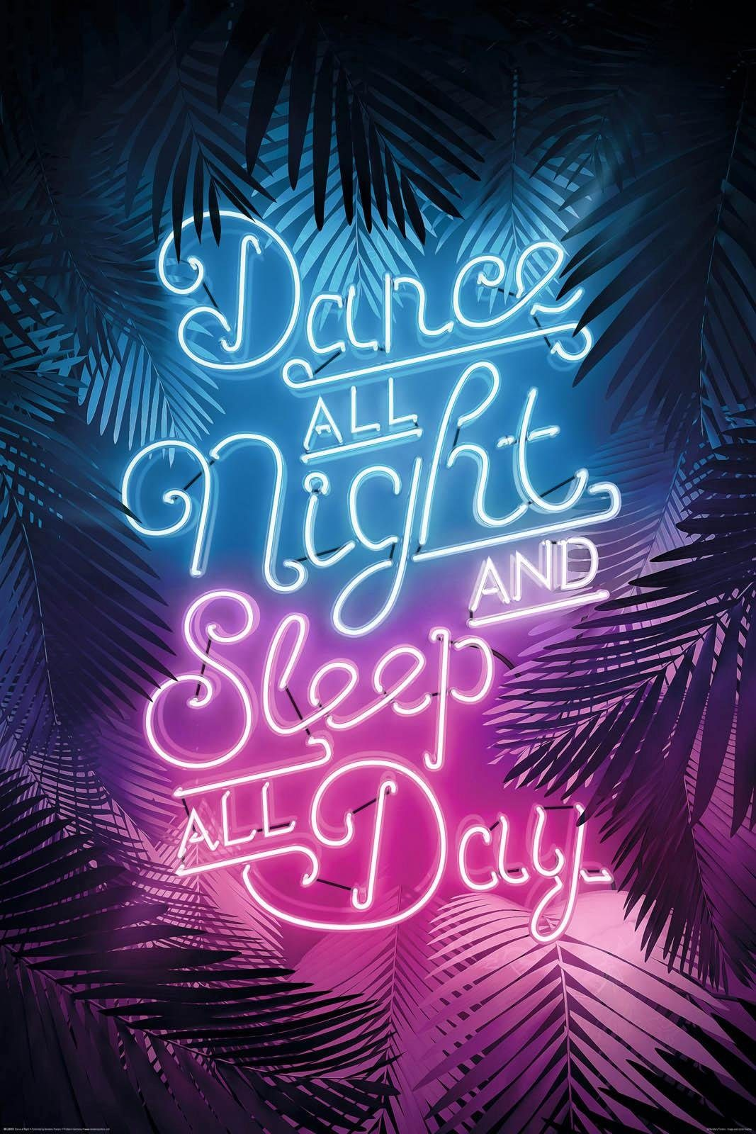INOSIGN Deco Panel »Dance all night...«, 60/90 cm