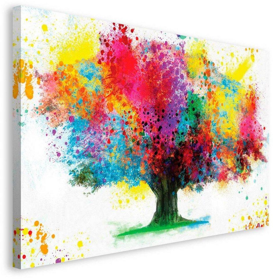 Inosign deco block coloured tree 118 70 cm otto - Kleuridee voor een gang ...