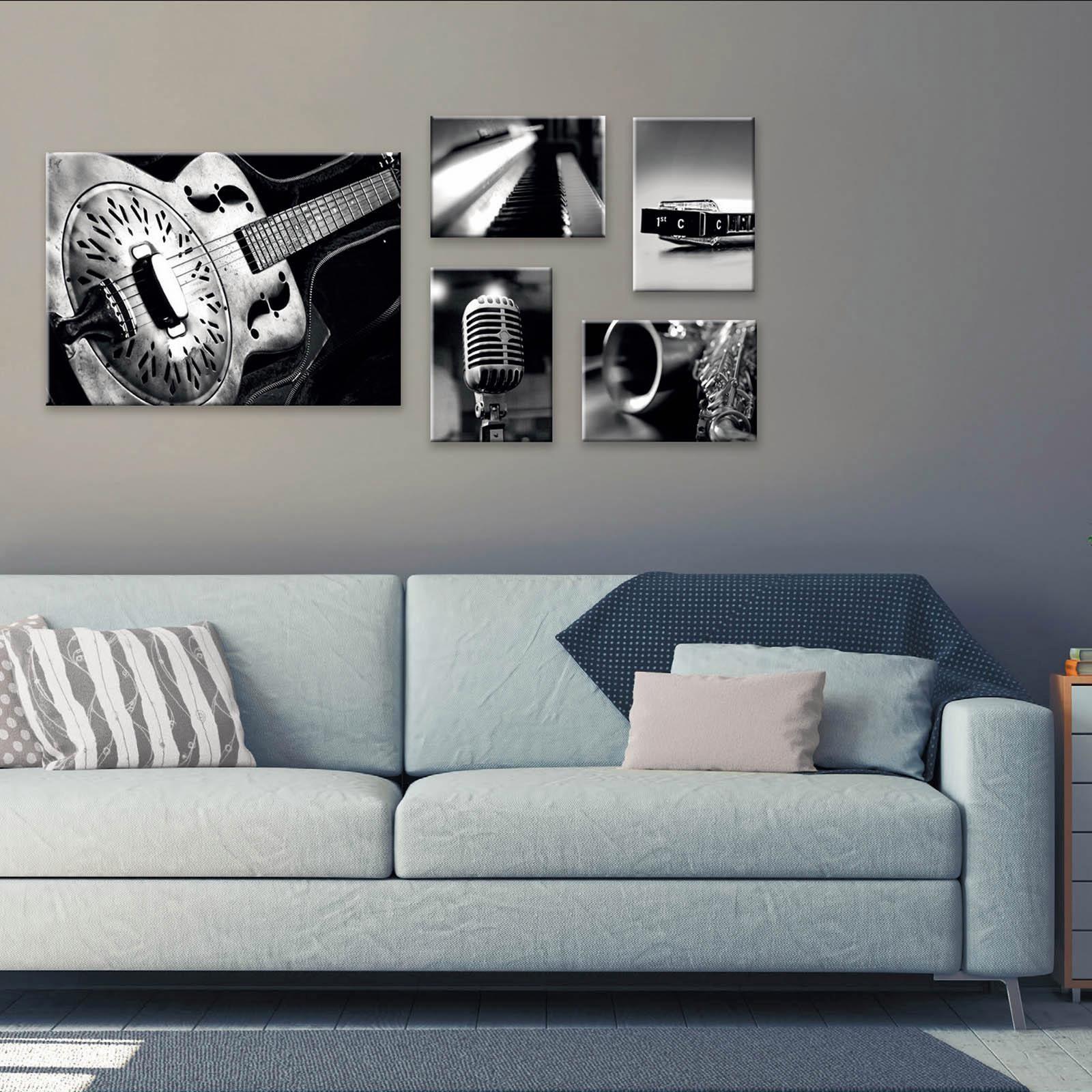 INOSIGN Combi Canvas »Blues« (5-tlg.), 4 x 23/33 cm & 1x 50/70 cm
