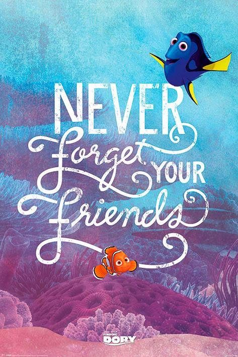 Deco-Panel »Finding Dory - never«, Filmplakat, 60/90 cm