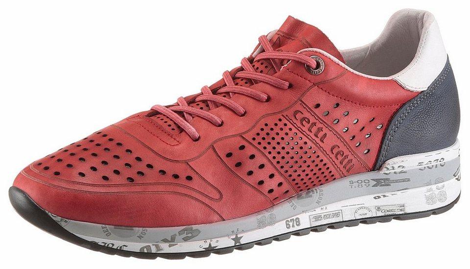81dd08ae97cb Cetti Sneaker mit Used Finish, Aus sehr wertigem Leder mit modischer ...