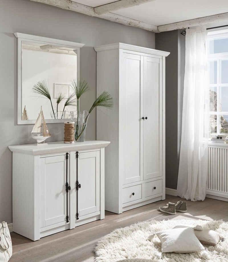 Home affaire Garderoben-Set »California«, (Set, 3-St), Set aus Garderobenschrank, Spiegel und Kommode