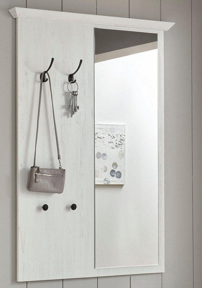 Home affaire Garderobenpaneel mit Spiegel California 105 cm breit weiß | 04054574052015