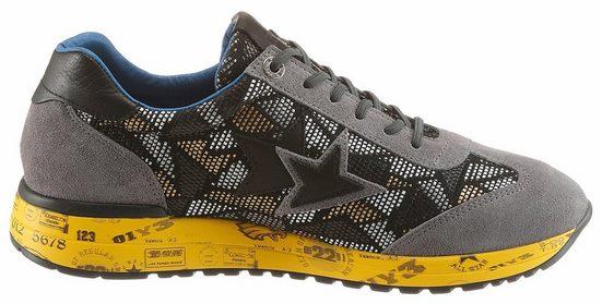 Cetti Sneaker, With Fashionable Use In Metallic-look