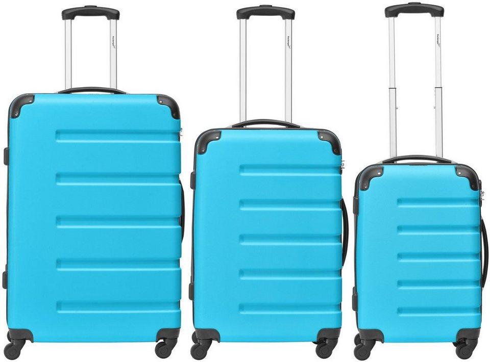 Packenger Hartschalentrolley Set mit 4 Rollen, »Marina« (3tlg.) in blau