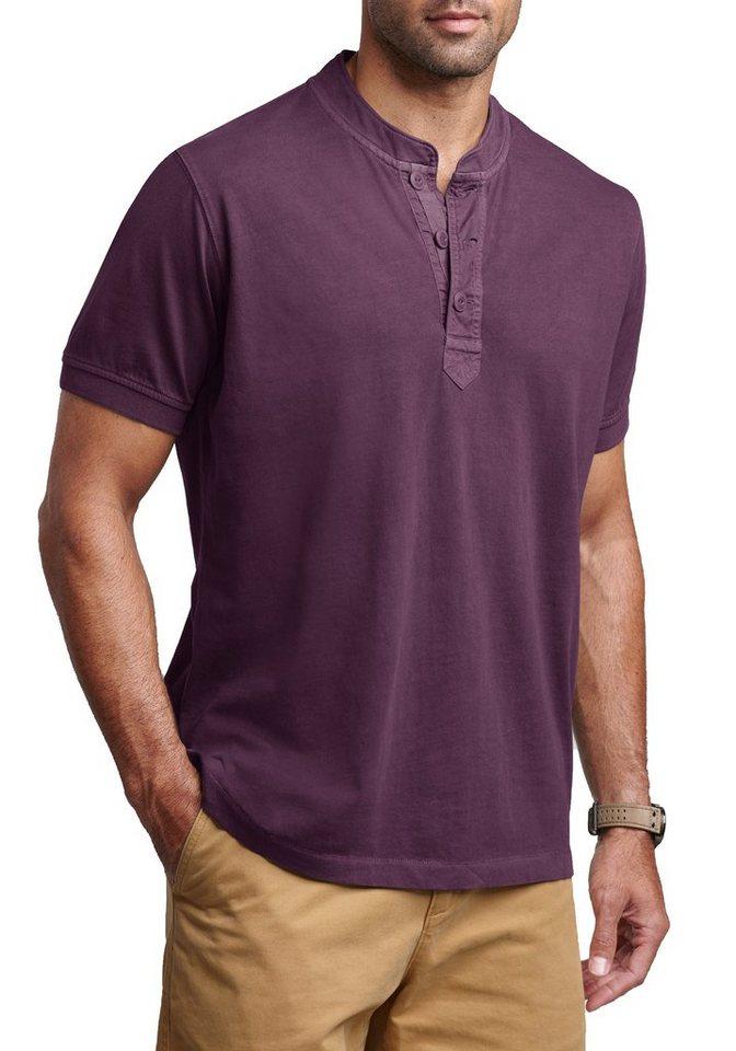 Eddie Bauer Pigment-Henleyshirt in Aubergine