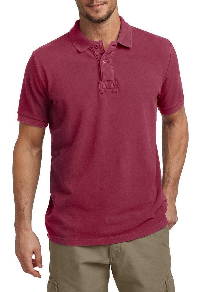 Eddie Bauer Pigment-Piqué-Poloshirt in Rot