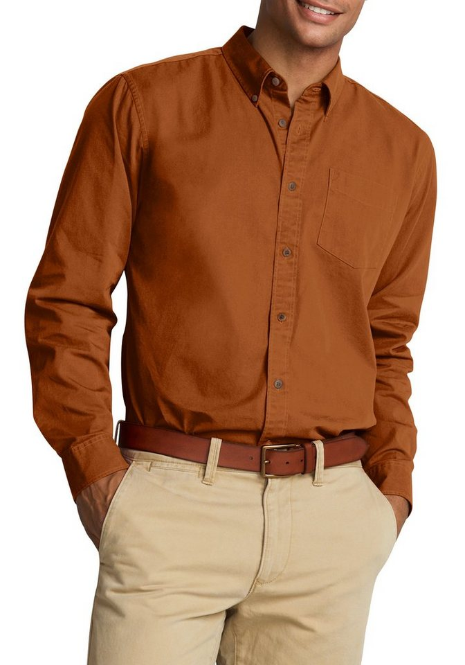 Eddie Bauer Langarmhemd uni in Orange