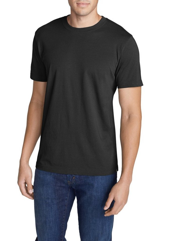 Eddie Bauer Kurzarm-T-Shirt - Slim in Schwarz