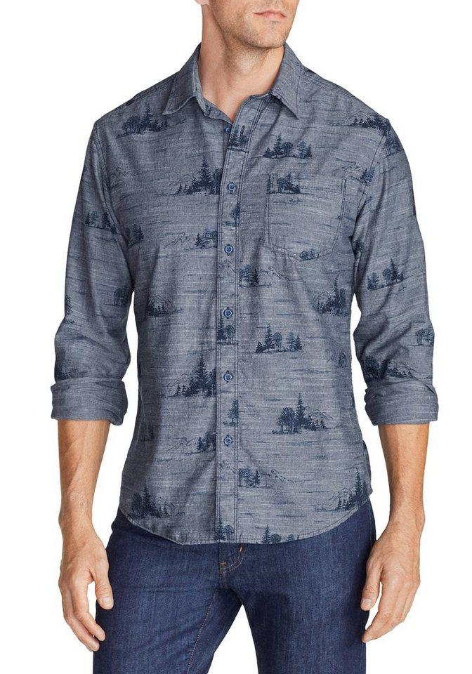 Eddie Bauer Hemd gemustert in Navy