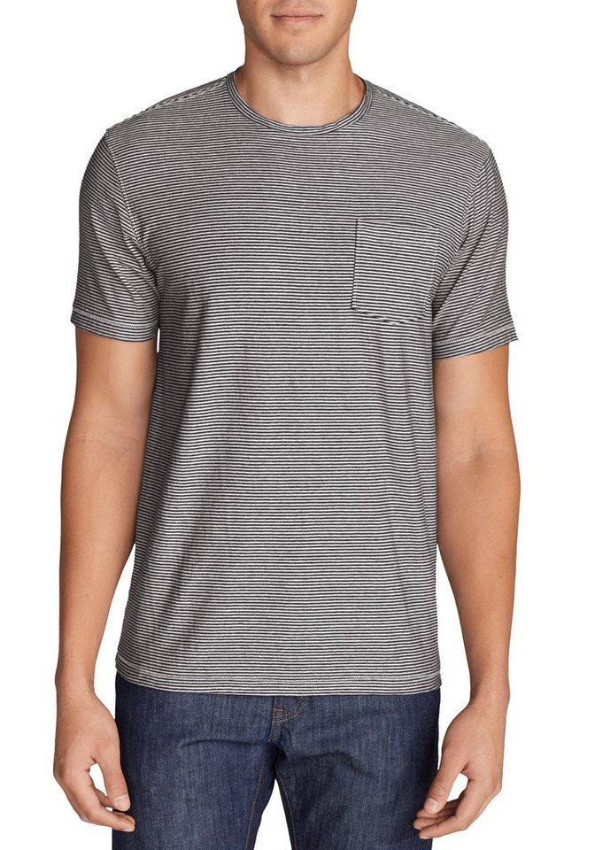 Eddie Bauer T-Shirt gestreift in Dunkelblau