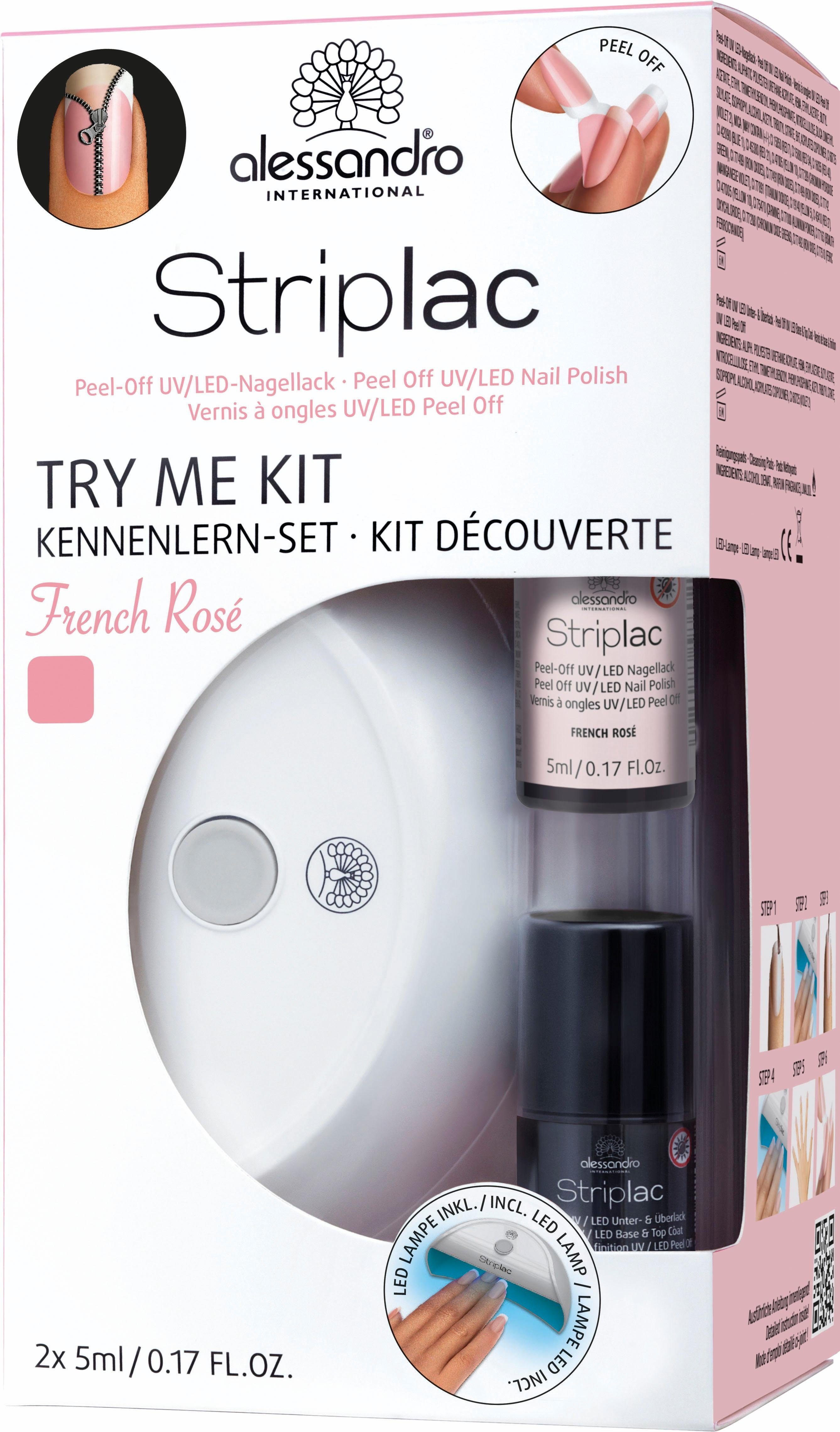 alessandro International, »Striplac Try Me Kit French Rosé«, Nagellack-Set