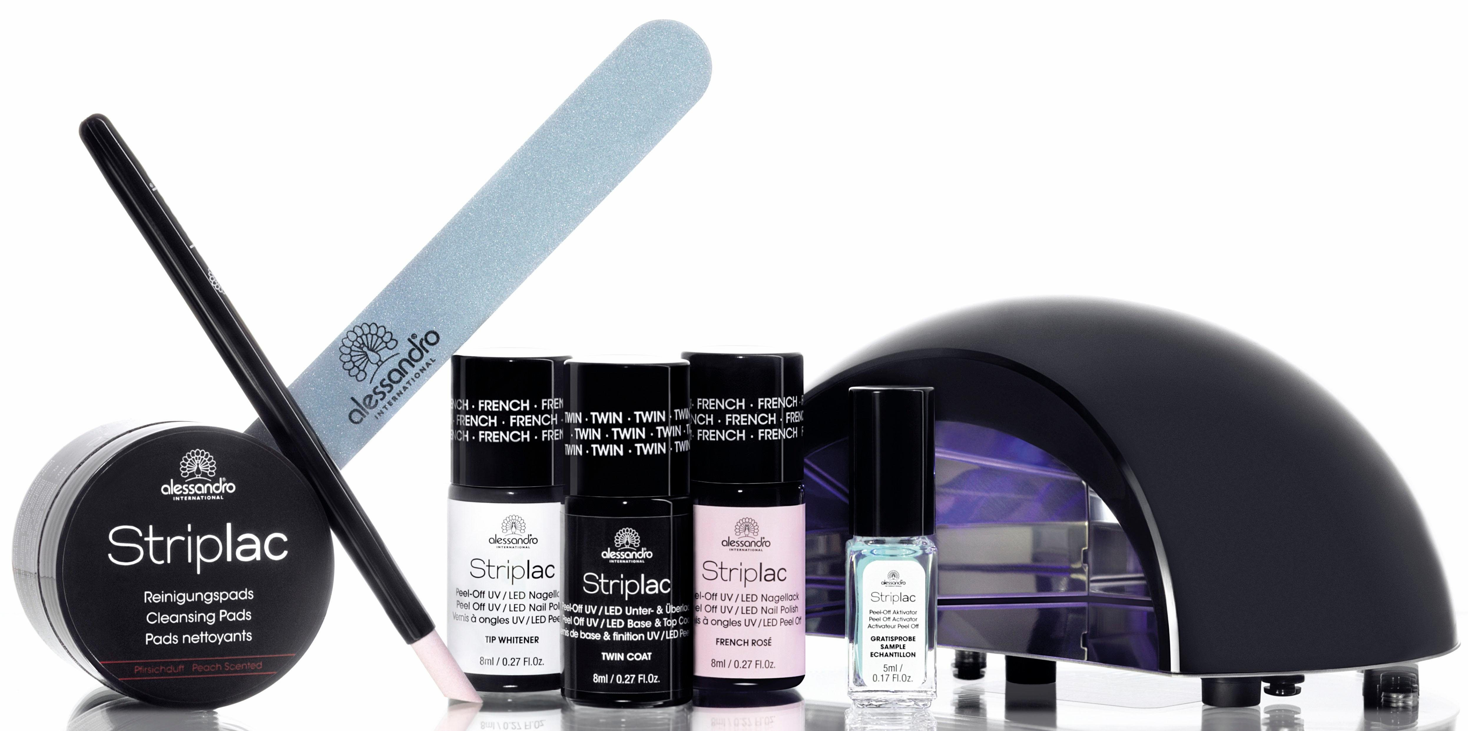 Alessandro International, »Striplac Starter Kit French«, Nagellack-Set