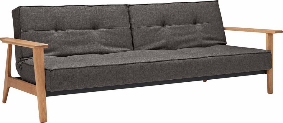 Design Schlafsofa innovation schlafsofa splitback frej mit armlehnen in