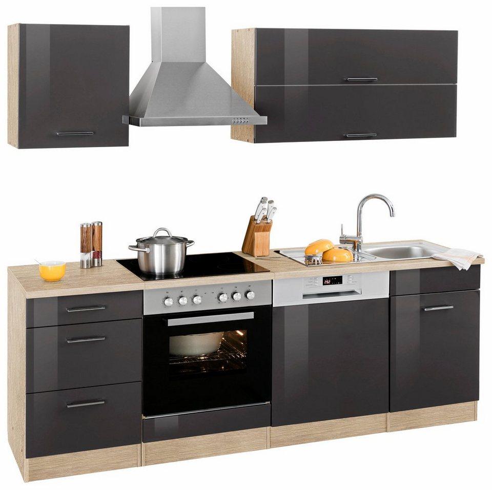 HELD MÖBEL Küchenzeile »Graz« ohne E-Geräte, Breite 220 cm online ...
