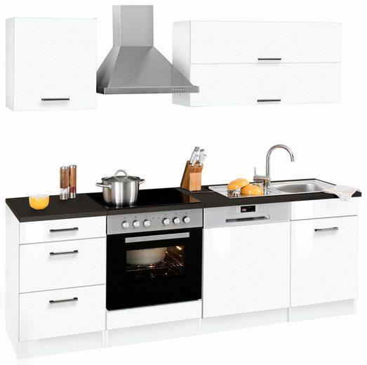 HELD MÖBEL Küchenzeile »Graz«, ohne E-Geräte, Breite 220 cm