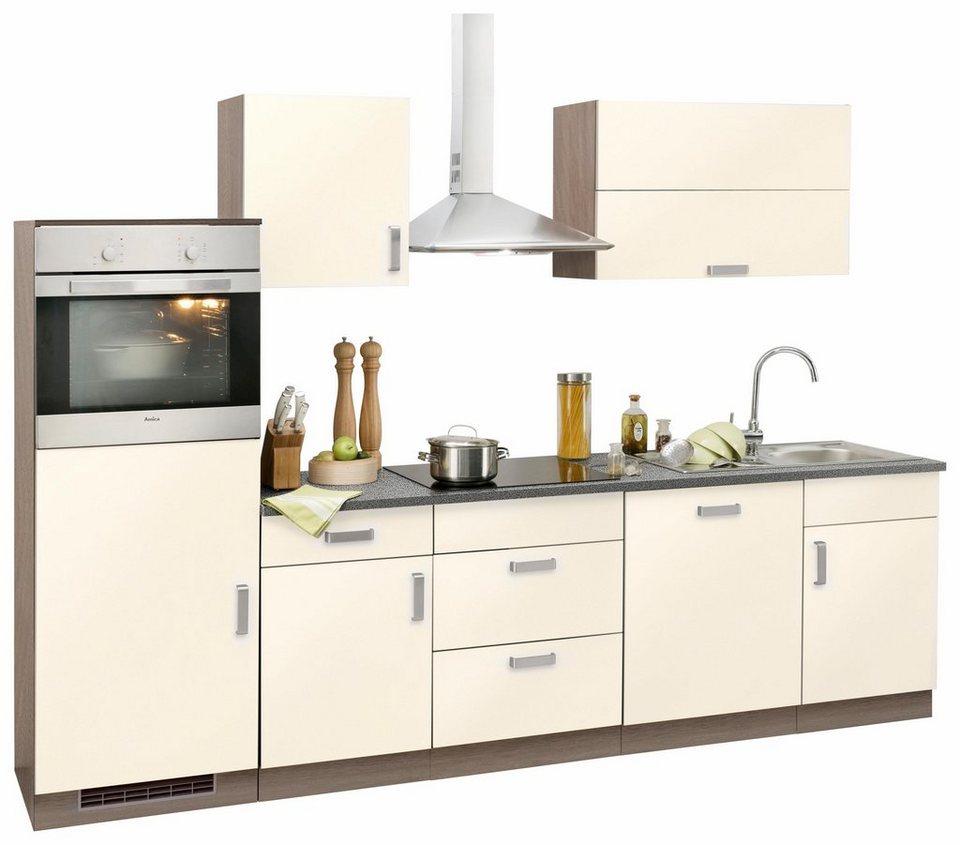 Küchenzeile »Tacoma« ohne E-Geräte, Breite 280 cm in vanillefarben