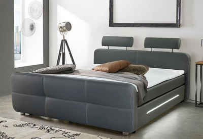 Places Of Style Boxspringbett Inkl. Topper Und LED Beleuchtung