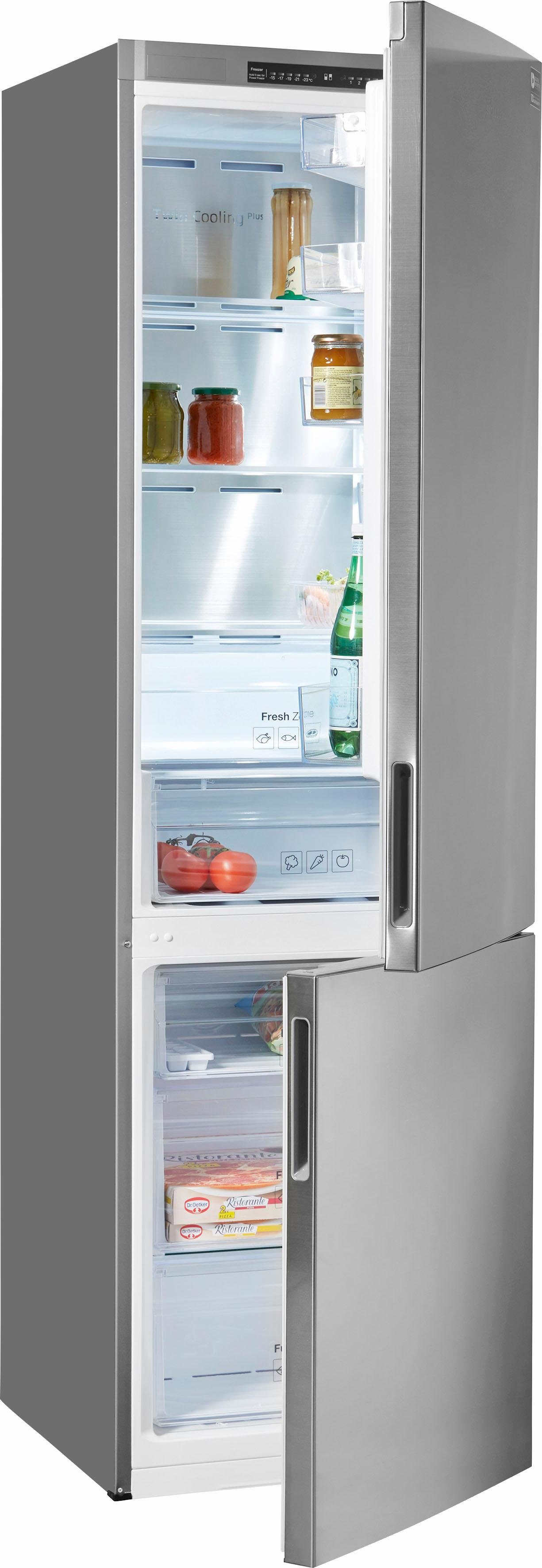 Samsung Kühl-/Gefrierkombination RL37J5009SS/EF, Enerergieklasse A+++, 201 cm hoch, NoFrost