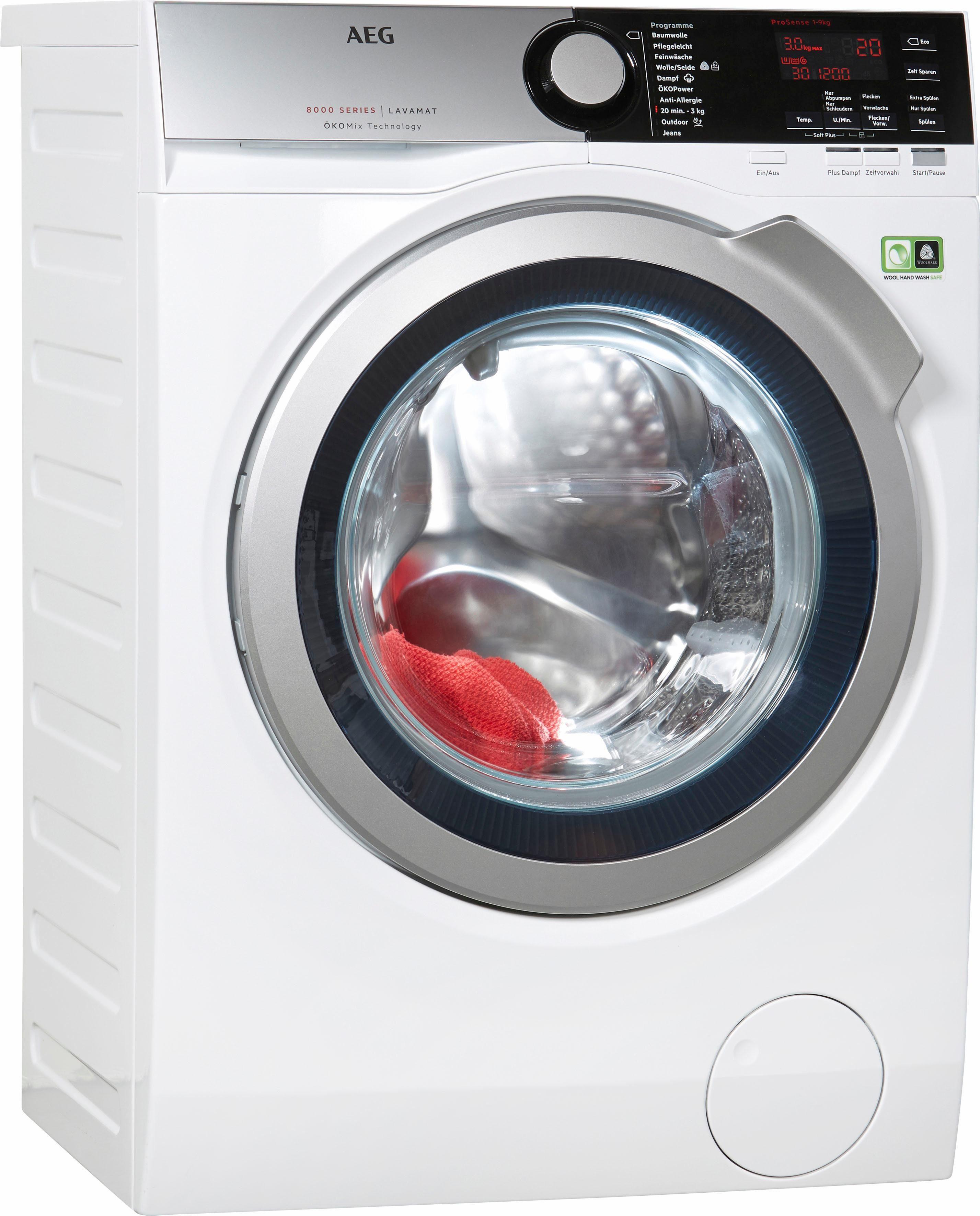 AEG Waschmaschine LAVAMAT L8FE76495, 9 kg, 1400 U/Min