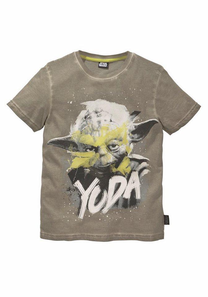 Star Wars T-Shirt mit coolem Front-Druck in beige