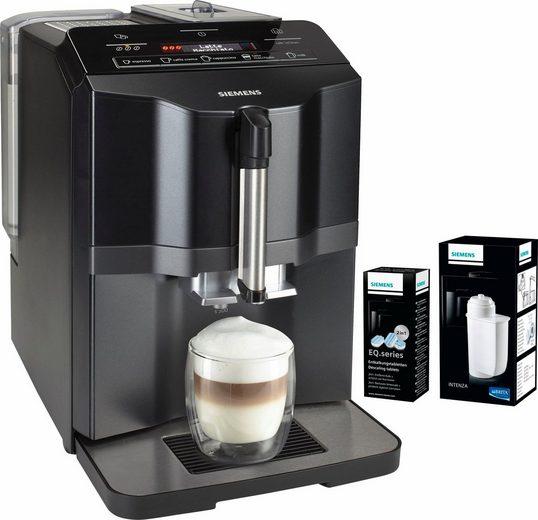 SIEMENS Kaffeevollautomat EQ.3 s300 TI313519DE, inkl. einer Packung Entkalker & einem Brita Intenza Wasserfilter im Wert von UVP € 26,98
