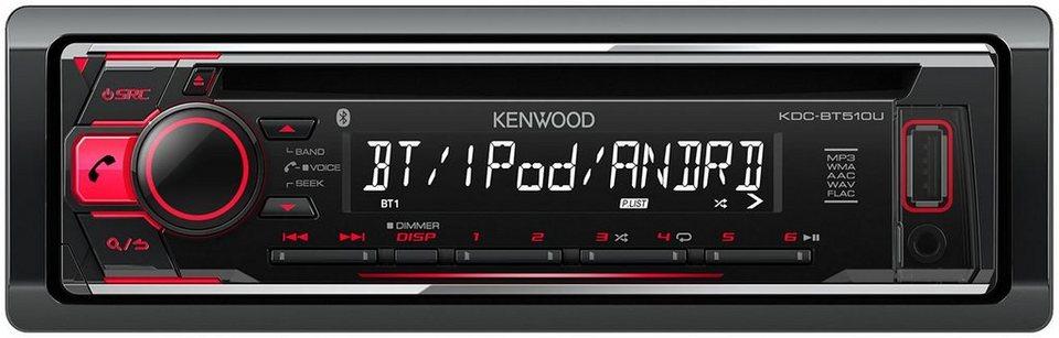 kenwood 1 din autoradio bluetooth cd usb kdc bt510u online kaufen otto. Black Bedroom Furniture Sets. Home Design Ideas