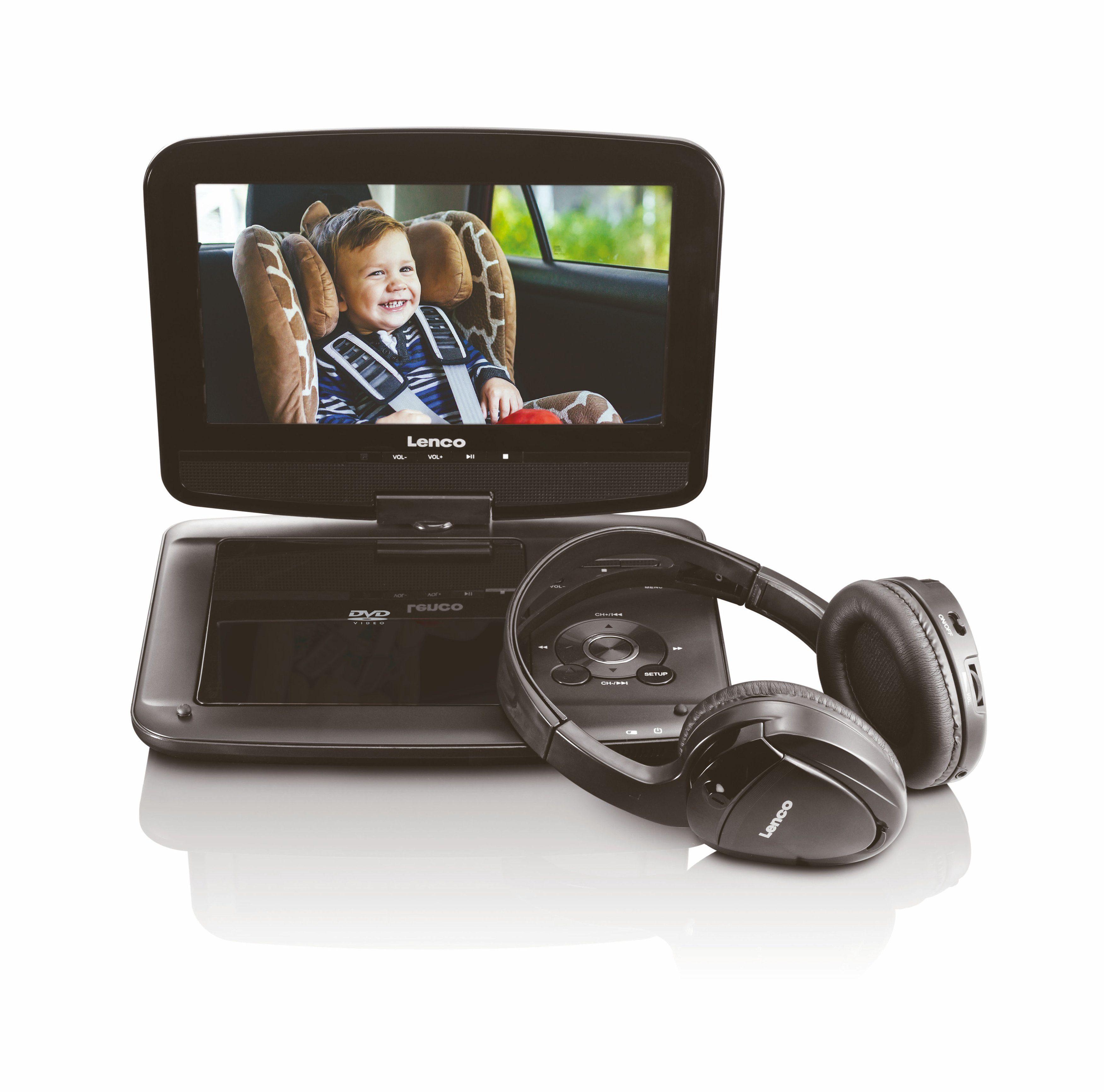 Lenco DVD-Player mit Fernbedienung, Halterung fürs Auto & Kopfhörer »DVP-937«