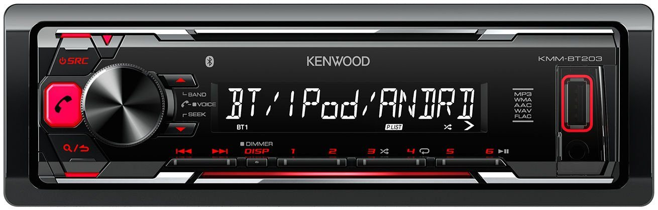 Kenwood 1-DIN Autoradio mit Bluetooth »KMM-BT203«