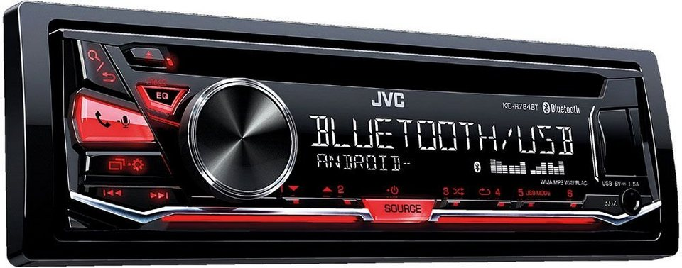jvc 1 din autoradio mit bluetooth kd r784bt otto. Black Bedroom Furniture Sets. Home Design Ideas