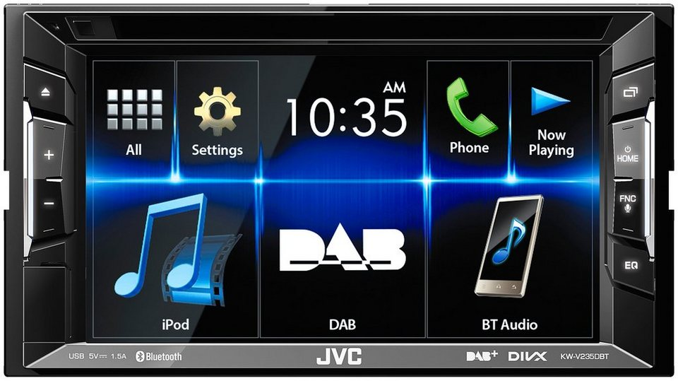 jvc 2 din autoradio mit bluetooth kw v235dbt otto. Black Bedroom Furniture Sets. Home Design Ideas