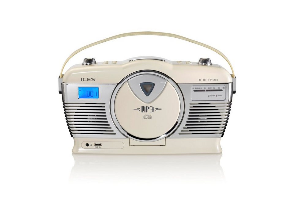 lenco ices tragbares retro radio mit cd mp3 player usb ices iscd 33 online kaufen otto. Black Bedroom Furniture Sets. Home Design Ideas