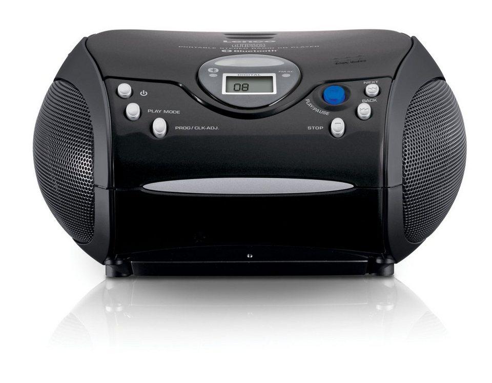 lenco tragbarer radio cd player mit bluetooth scd 32 bt