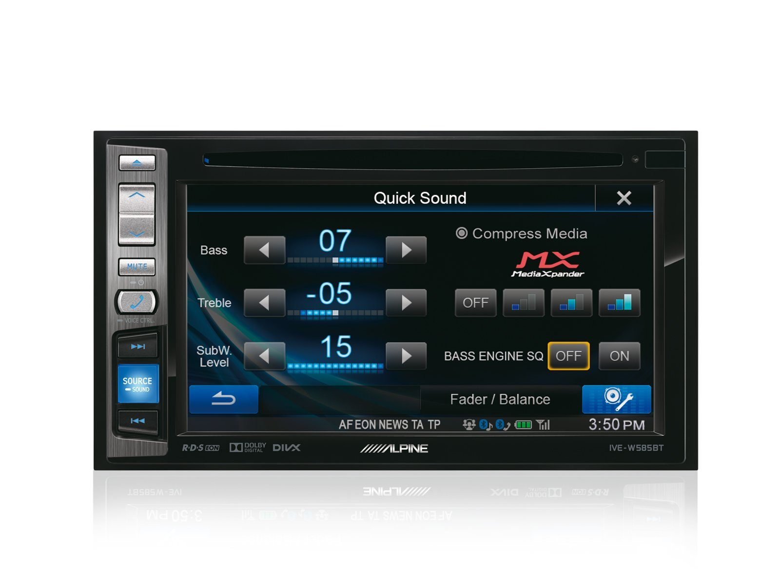 ALPINE 2 DIN - Mobile-Media-Station »IVE-W585BT«