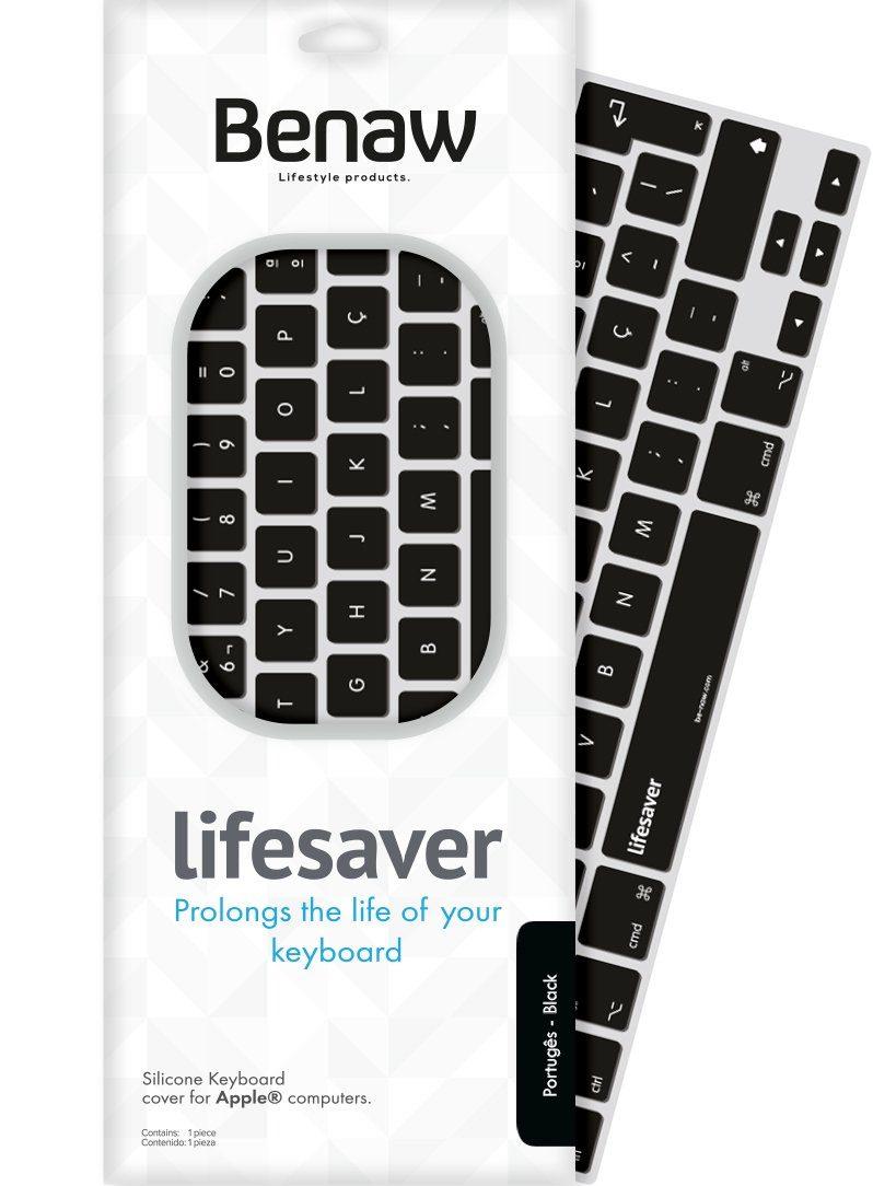 Benaw Tastatur-Skin für MacBook/Pro/Air/Apple-Wireless-Tastaturen »Lifesaver portugiesisch«
