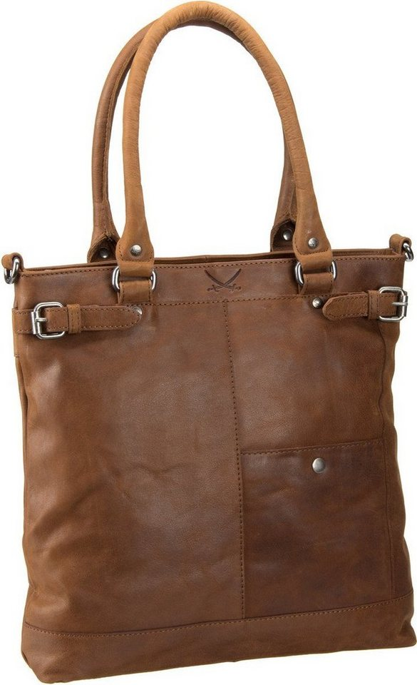 Sansibar Saturnus 1065 Shopper Bag in Cognac
