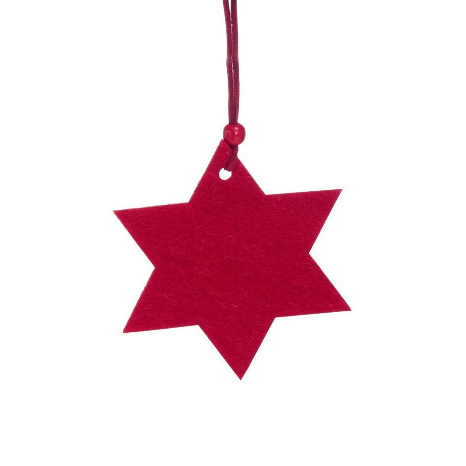 BUTLERS HANG ON »Filzanhänger Stern« in rot