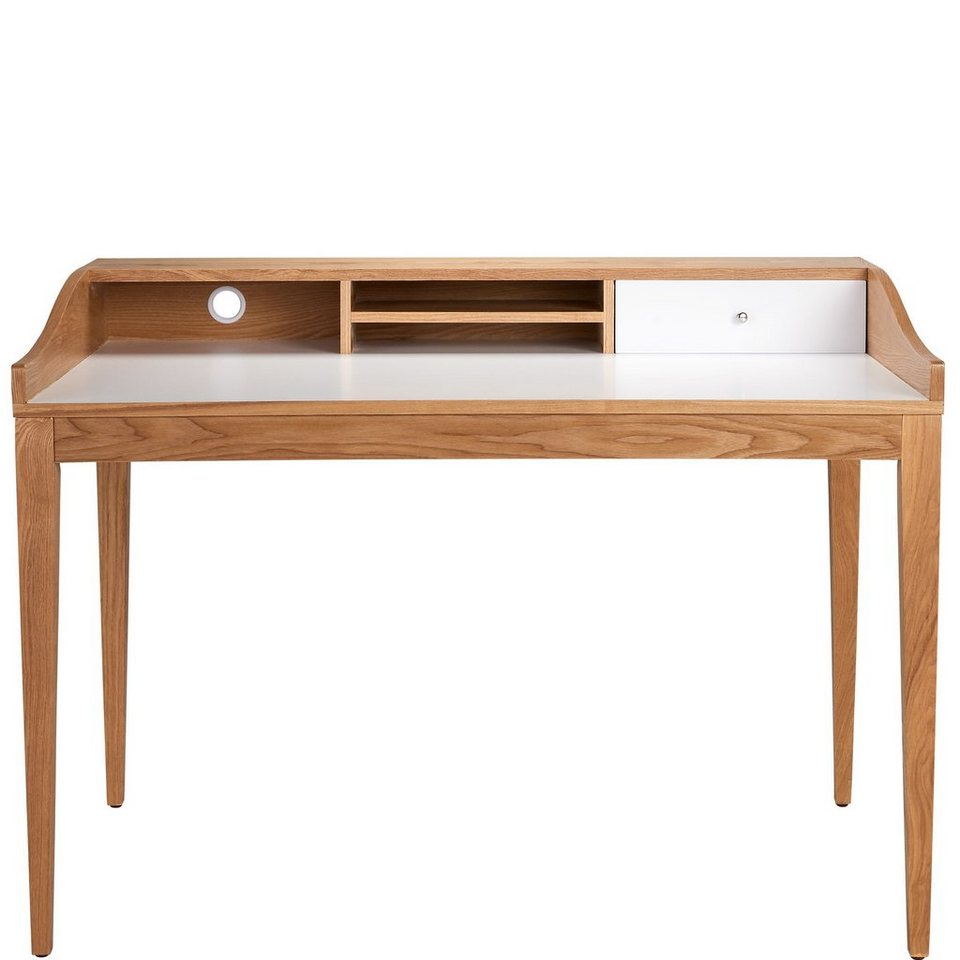 BUTLERS LENNOX »Schreibtisch« in weiss-braun