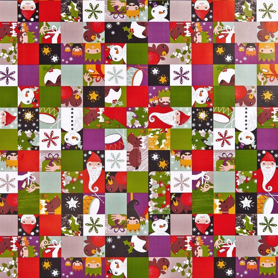 BUTLERS SURPRISE »Geschenkpapier Happy Holidays« in bunt