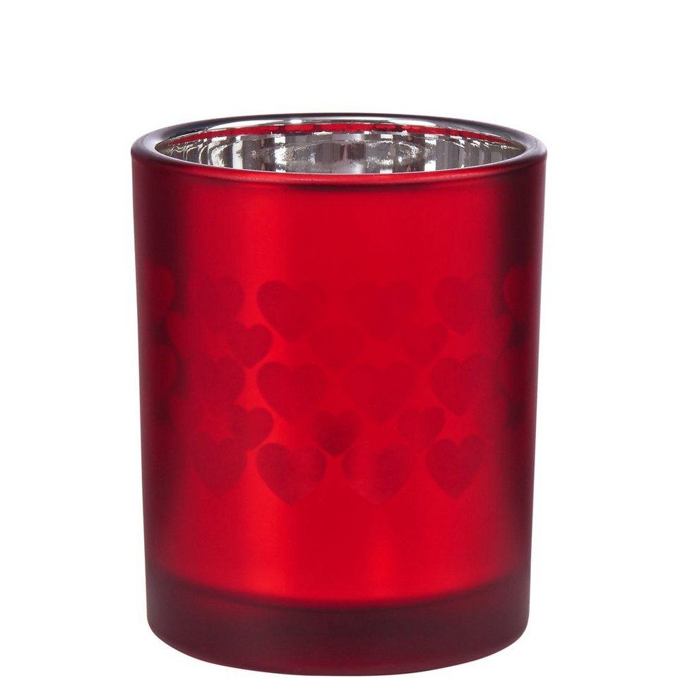 BUTLERS DELIGHT »Teelichthalter Herzen groß« in rot