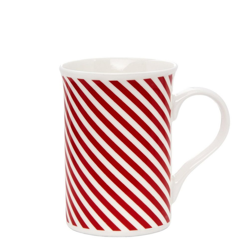 BUTLERS HOLLY JOLLY »Punch Tasse« in rot-weiss
