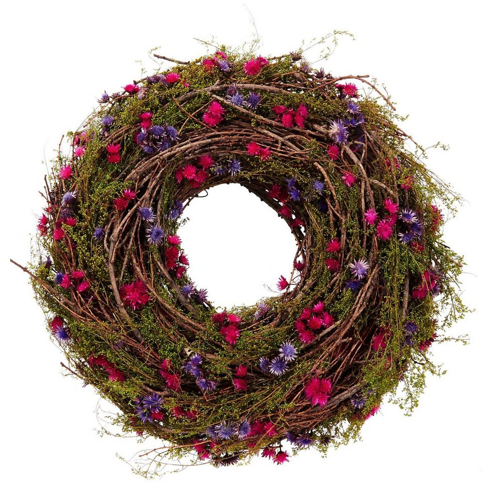 BUTLERS FLORISTA »Blumen Kranz« in lila- pink