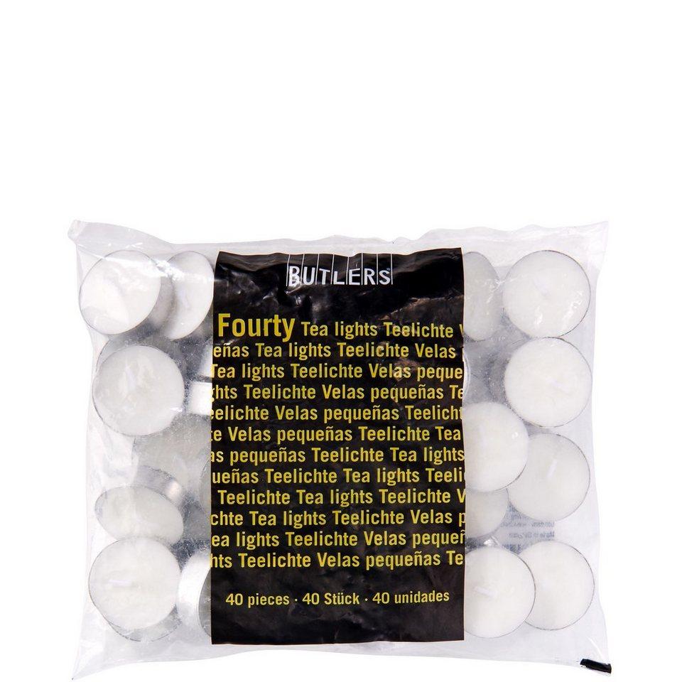 BUTLERS FOURTY »Teelichte« in weiss
