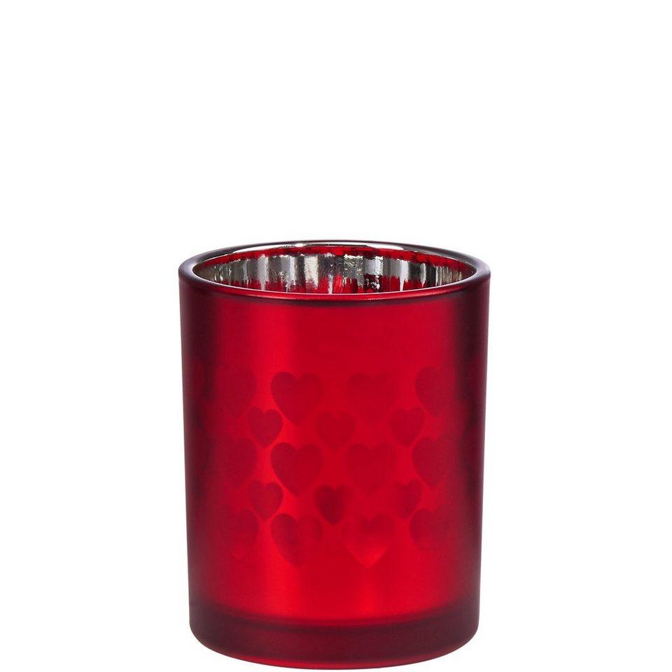 BUTLERS DELIGHT »Teelichthalter Herzen klein« in rot