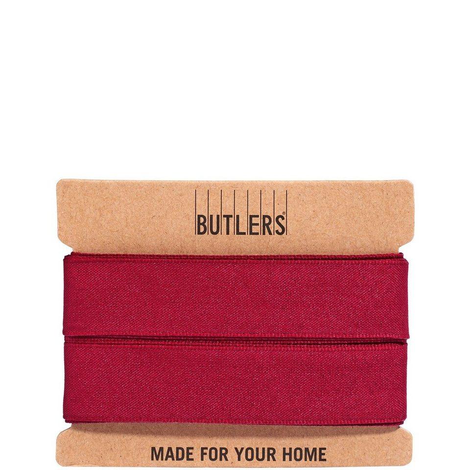 BUTLERS RIBBON »Geschenkband« in rot