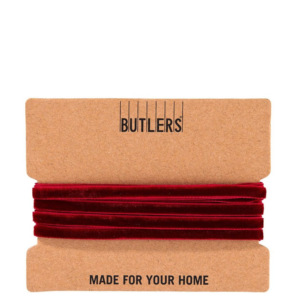 BUTLERS RIBBON »Samtband« in rot